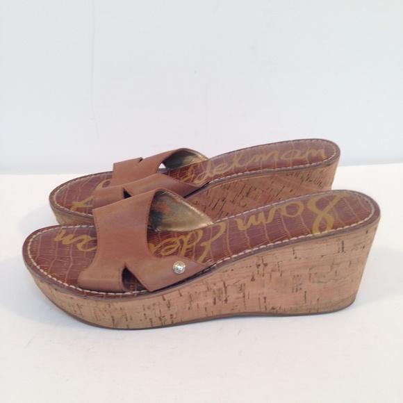 f4a50e8953a3 Sam Edelman Shoes - Sam Edelman Womens Reid Wedge Sandals Brown